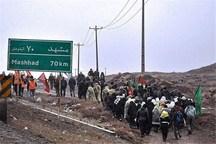 72 هزار زائر پیاده در شعاع 100 کیلومتری مشهد در حرکتند