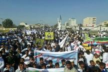 راهپیمایی 13 آبان در شهر های مختلف سیستان و بلوچستان برگزار شد
