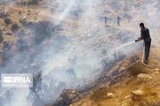 آتش سوزی گسترده در اراضی ملی طارم سفلی قزوین