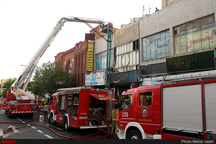 آتشسوزی در مجتمع تجاری رجایی شهر کرج
