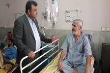 استاندارمازندران پس از فراغت از سیل به عیات بیماران رفت