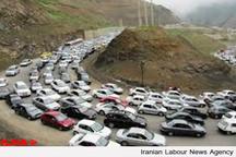 ترافیک سنگین در جاده کرج - چالوس و آزادراه کرج - قزوین