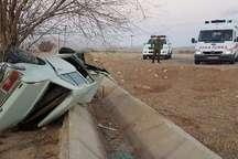 واژگونی خودرو سواری در محور بروجن - لردگان 5 مصدوم داشت