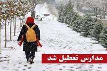 مدارس چند ناحیه قزوین تعطیل شد