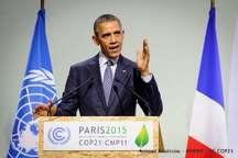 اوباما: ایالت های آمریکا به توافق پاریس وفادار می مانند