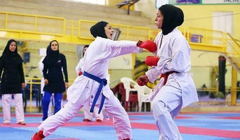قهرمانی مازندران در رقابتهای انتخابی تیم ملی کاراته دختران