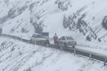 30 خودروی دربرف مانده در محور قزوین الموت رها سازی شدند