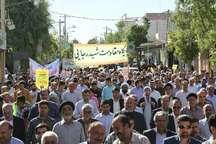 شور انقلابی و شعار مرگ براسرائیل در روز جهانی قدس در آبدانان طنین انداز شد