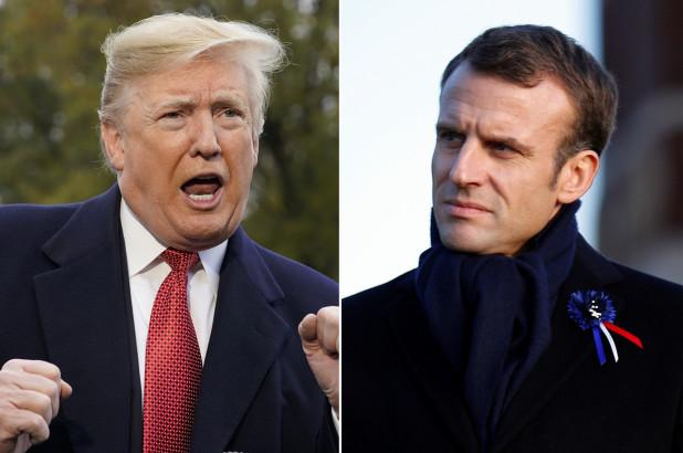 حمله ترامپ به طرح «ارتش واحد اروپای» ماکرون، در بدو ورود به پاریس