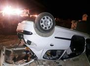 خودرو مطهری در جنوب تهران واژگون شد + عکس