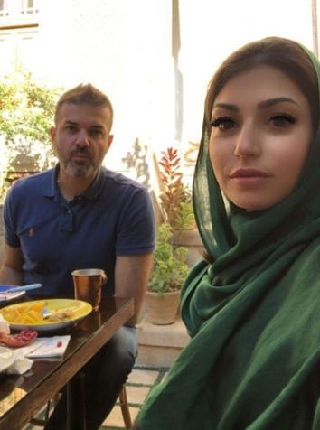 استراماچونی و همسرش در شیراز/عکس