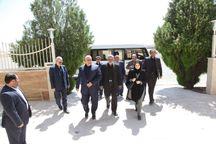 معاون رئیس جمهوری و وزیر جهاد کشاورزی وارد کرمانشاه شدند