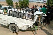 واژگونی وانت در محور صالح آباد - ایلام یک کشته برجای گذاشت