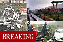 دهها کشته در حادثه فروریختن پلی در ایتالیا+ تصاویر