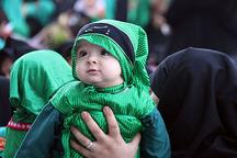 مراسم بزرگداشت مقام حضرت علی اصغر (ع ) در قزوین برگزار شد