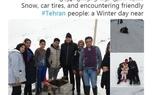 برف بازی سفیر آلمان در تهران + تصاویر