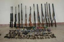 10 قبضه اسلحه شکاری در پارس آباد کشف شد
