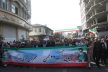 مردم شهرهای آستارا و لوندویل در راهپیمایی 22 بهمن حماسه آفریدند