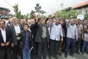 نمازگزاران بروجردی در حمایت از بیانیه شورای عالی امنیت ملی راهپیمایی کردند