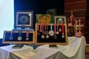 قهرمان کشتی جهان ۱۴ مدال خود را به موزه آستان قدس رضوی اهدا کرد
