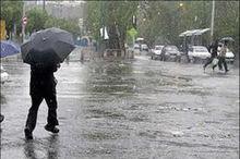 باد شدید و باران در راه مازندران