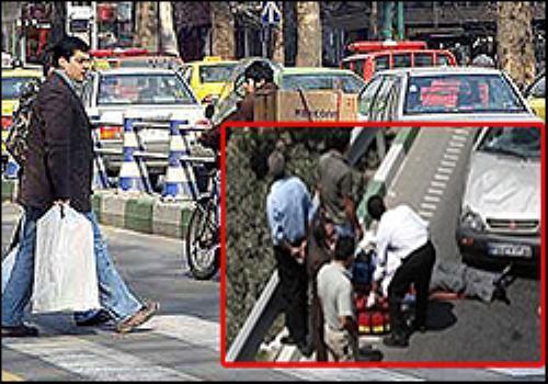 مرگ عابر پیاده در چند قدمی پل عابر برخورد پیکان با پیکان وانت، 3 کشته و 2 مصدوم