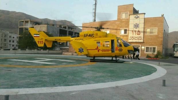 بالگرد اورژانس البرز عملیات نجات را در ارتفاع 10000پایی انجام داد