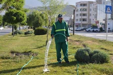 95 درصد فضای سبز یاسوج با آب غیر شرب آبیاری میشود