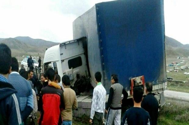 واژگونی کامیون در خان تختی سلماس 6 مصدوم برجا گذاشت