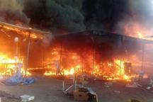 پرونده قضایی برای آتش سوزی بازارچه گلشهر تشکیل شد