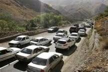 ترافیک نیمه سنگین در محور کرج - قزوین