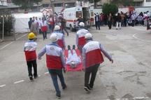 بیستمین مانور سراسری زلزله در مدارس گنبدکاووس برگزار شد