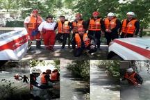 اعزام تیم امدادی تازه نفس برای جستجوی دختر غرق شده خروجی آب سد کرج کم شد
