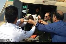 انتقال 2 بیمار بدحال از لالی به اهواز با بالگرد