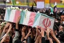 پیکر پدر سه شهید لرستانی در خرم آباد تشییع شد