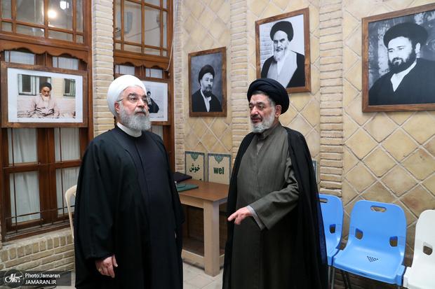 بازدید دکتر روحانی از بیت تاریخی امام خمینی(ره) در نجف اشرف