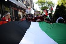 اعتراض مردمی به انتقال سفارت آمریکا به قدس در نیویورک+تصاویر