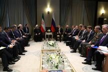 رئیسجمهور روحانی: مناسبات همکاریهای ایران و روسیه در سطح راهبردی ادامه خواهد یافت / پوتین: ایران یک قدرت بزرگ منطقهای با ملتی هوشمند است