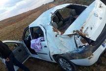 یک کشته و 3 مصدوم بر اثر واژگونی خودرو ال 90