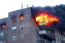 آتش سوزی ساختمان سه طبقه در بروجرد مهار شد
