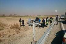 سرعت غیرمجاز خودرو در ورامین حادثه ساز شد