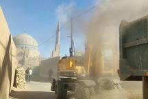 توقف آواربرداری با بیل مکانیکی در محدوده عرصه بافت تاریخی یزد