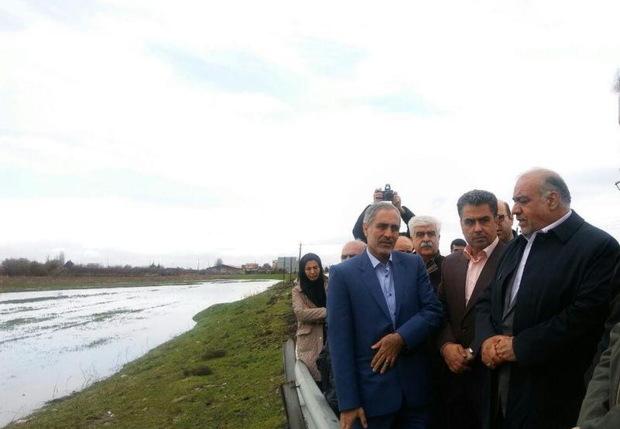 استاندار از رودخانه های شهر کرمانشاه بازدید کرد