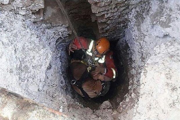 سقوط در چاه جان یک شهروند ضیاءآبادی را گرفت