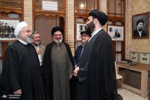 روحانی از بیت قدیمی امام خمینی در نجف اشرف بازدید کرد + تصاویر