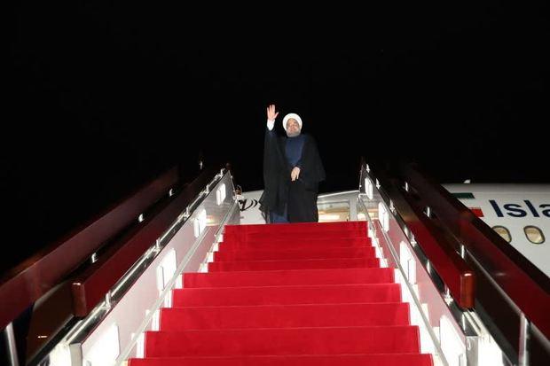 رئیس جمهوری سمنان را به مقصد تهران ترک کرد