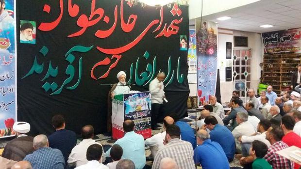 سومین سالگرد شهدای مدافعین حرم مازندران در تنکابن برگزار شد
