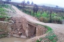 پل دسترسی به اراضی کشاورزی سیروان ترمیم شد
