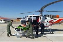 بالگرد اورژانس هوایی لرستان برای نجات جان ۲ بیمار به پرواز درآمد