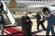روحانی وارد استان لرستان شد